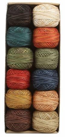 Valdani Pearl Cotton Ball Sz12 109yd 12 Colors Folk Art Fusion