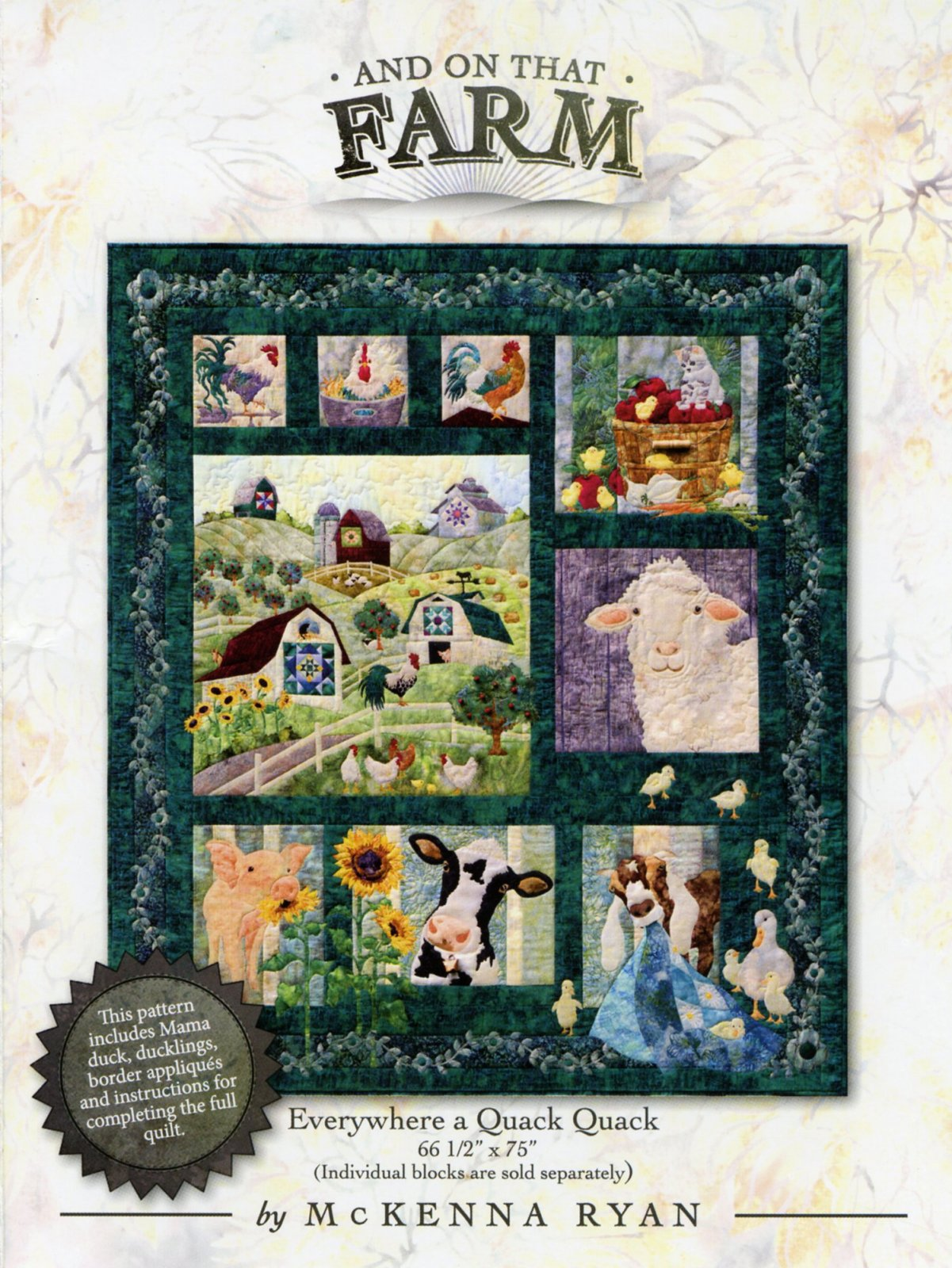 And On That Farm by Pine Needles Quilt Kit