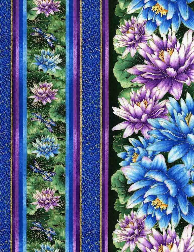 Water Dance - Water Lilies - Multi - Stripes