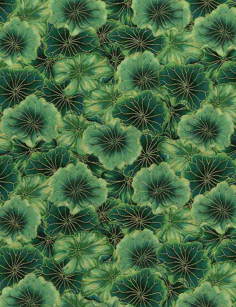 Water Dance - Packed Water Lily Pads - Green