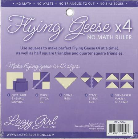Flying Geese X 4 No Math Ruler 8 1/4in sq