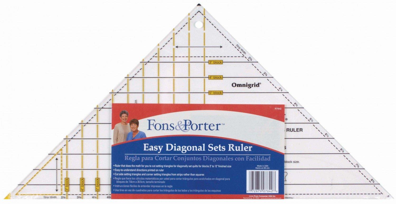 Fons & Porter Easy Set Diagonal Triangle Ruler