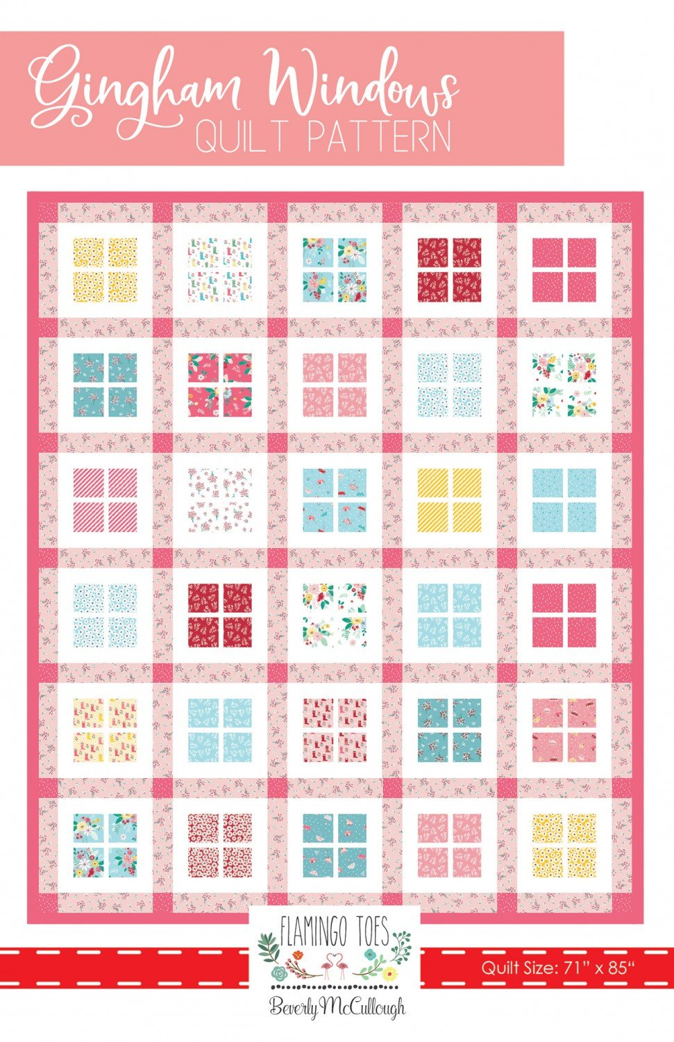 Gingham Windows Quilt Pattern