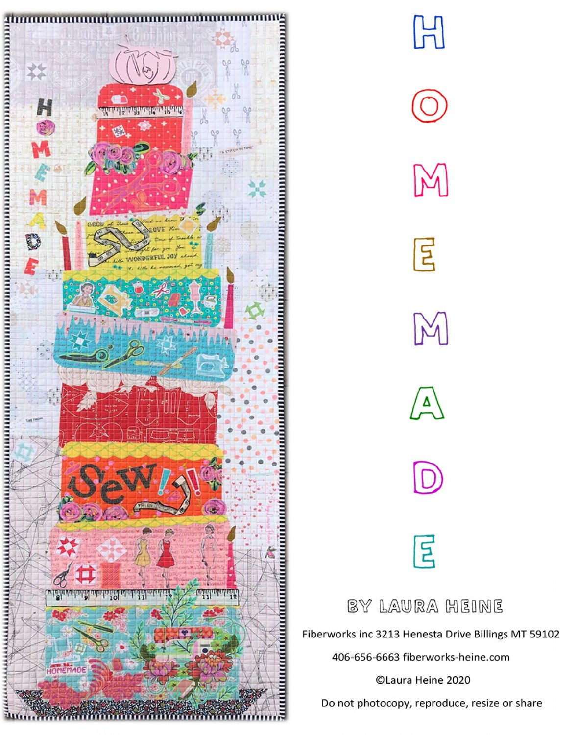 Homemade Collage Pattern By Laura Heine  ~ RELEASE DATE JUL 15/20 ~