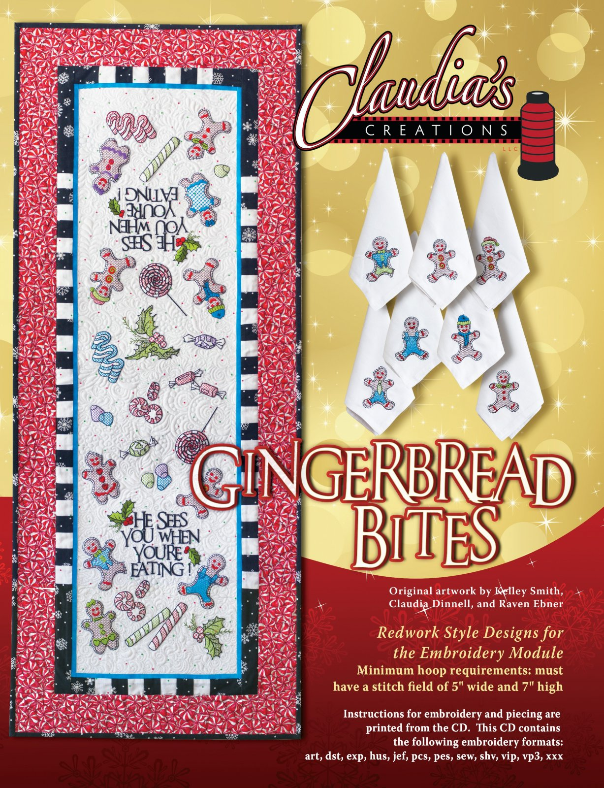 CD Gingerbread Bites Machine Embroidery