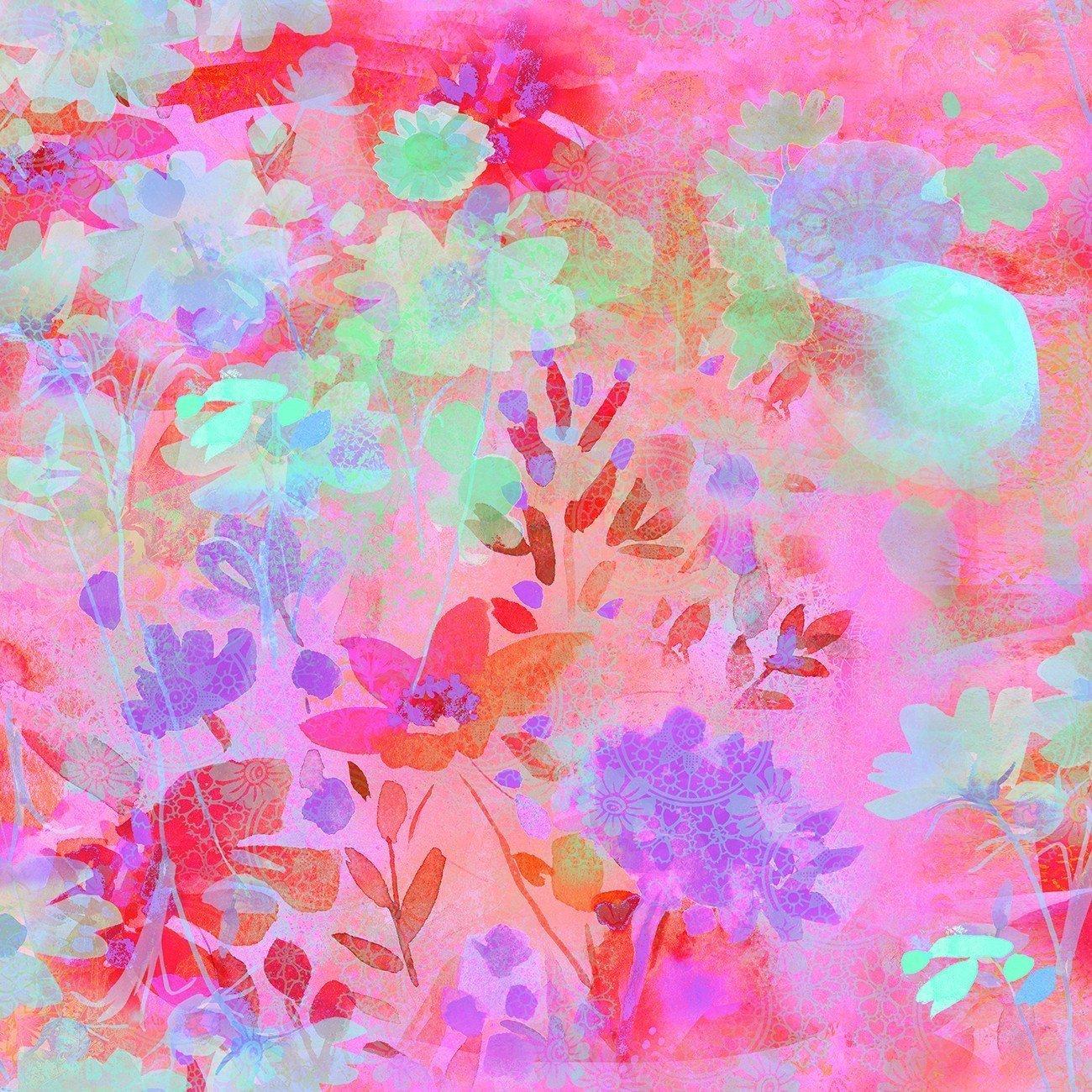 Good Vibes - Raspberry Floral