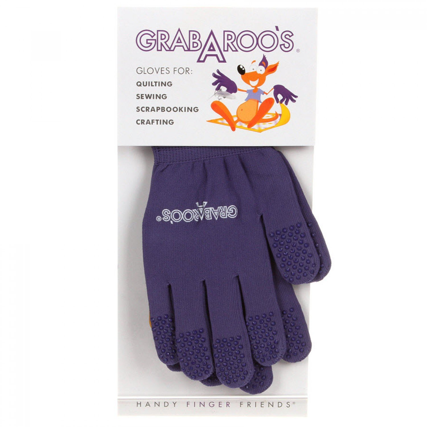 Grab A Roo's Gloves For Quilting / Sewing Size Medium