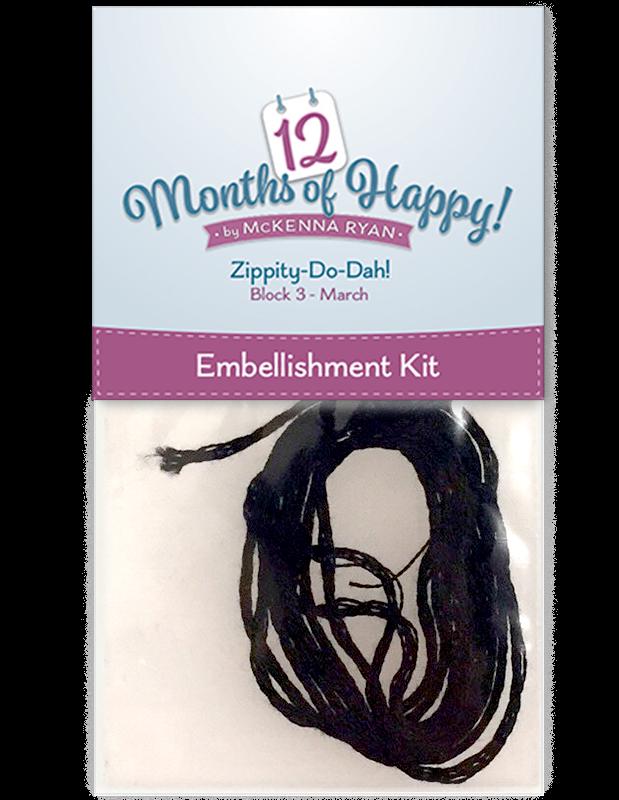 Embellishment Kit for Zippity-Do-Dah for 12 Months of Happy!