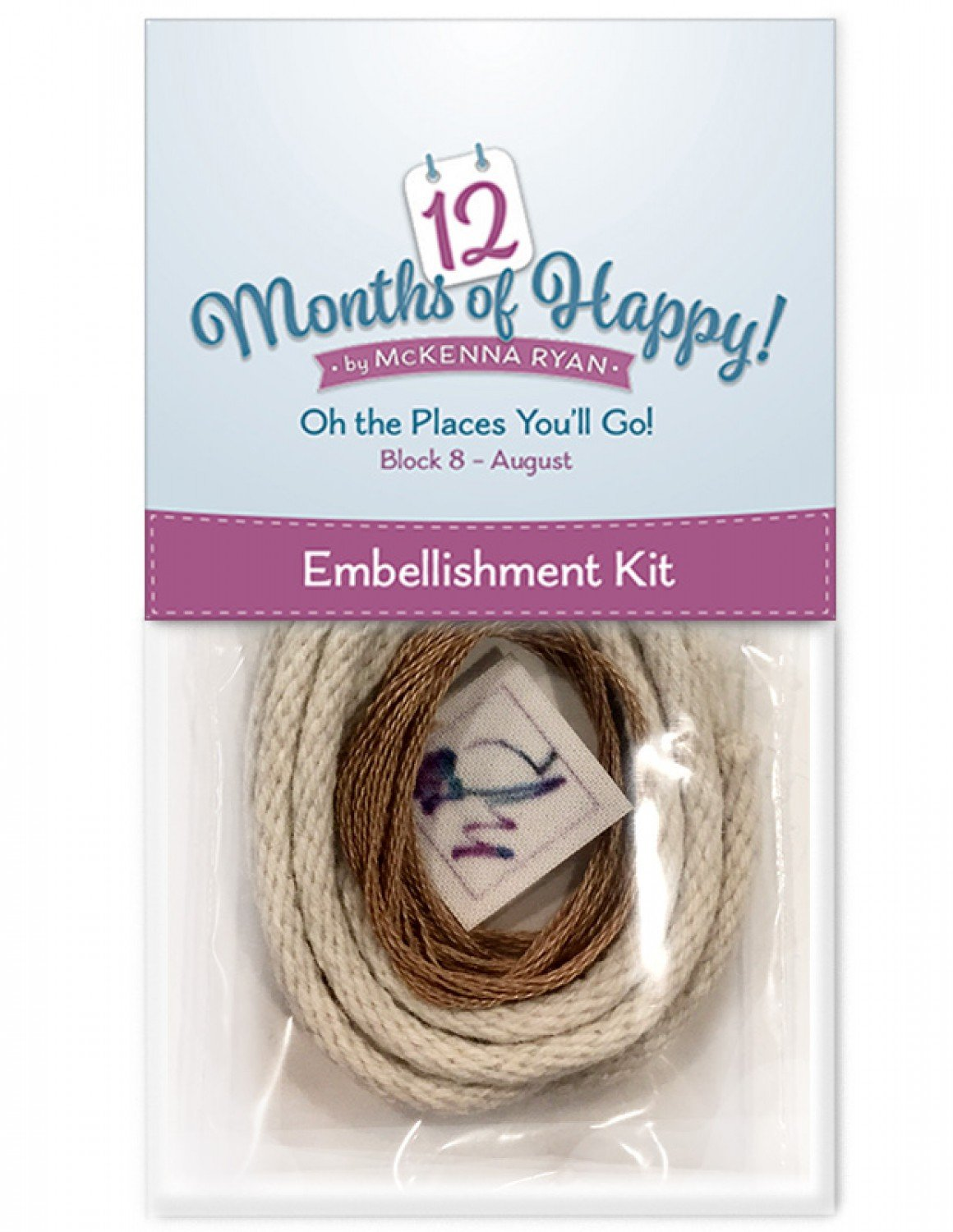 Embellishment Kit for Oh The Places You'll Go for 12 Months of Happy!