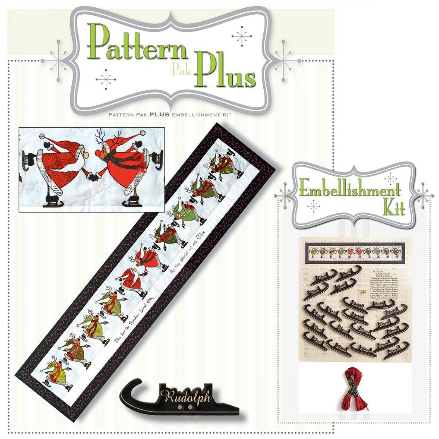 Glee Skating Santa & Reinder Runner - Pattern Pak Plus
