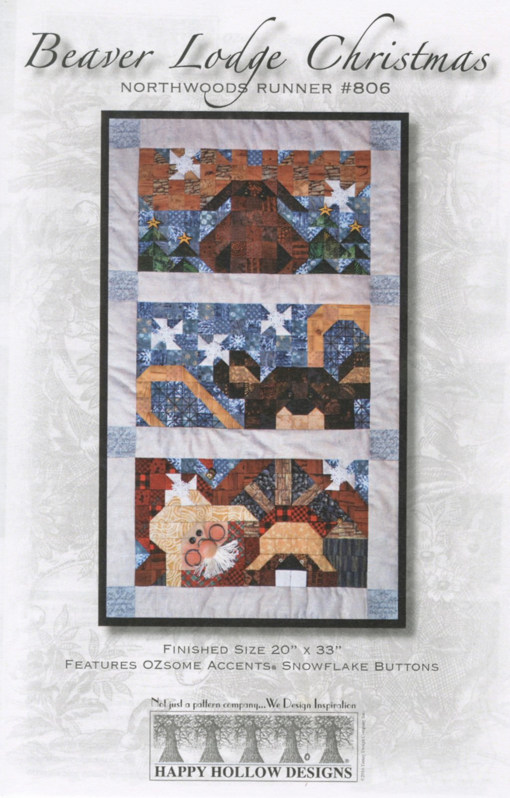 Beaver Lodge Christmas Pattern