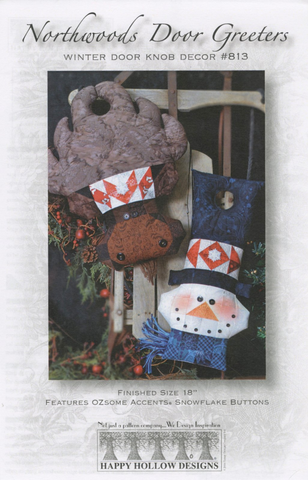 Moose & Snowman Door Knob Greeters Pattern