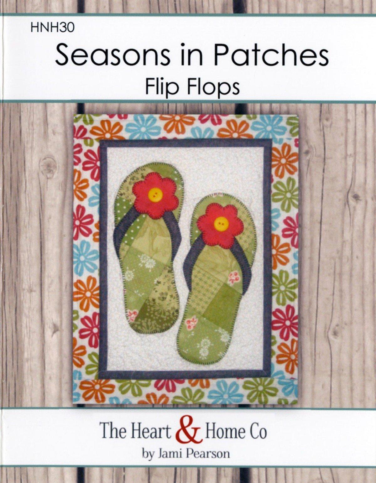 Seasons In Patches Flip Flops