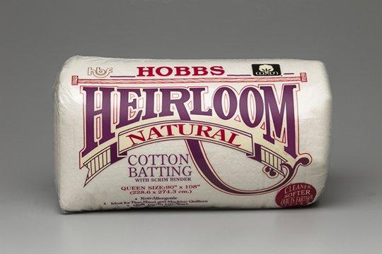 Heirloom Natural Cotton Batting w/Scrim Queen Size 90 x 108