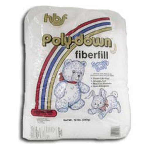 Poly-down Fiberfill Stuffing 100% Polyester 12 oz.