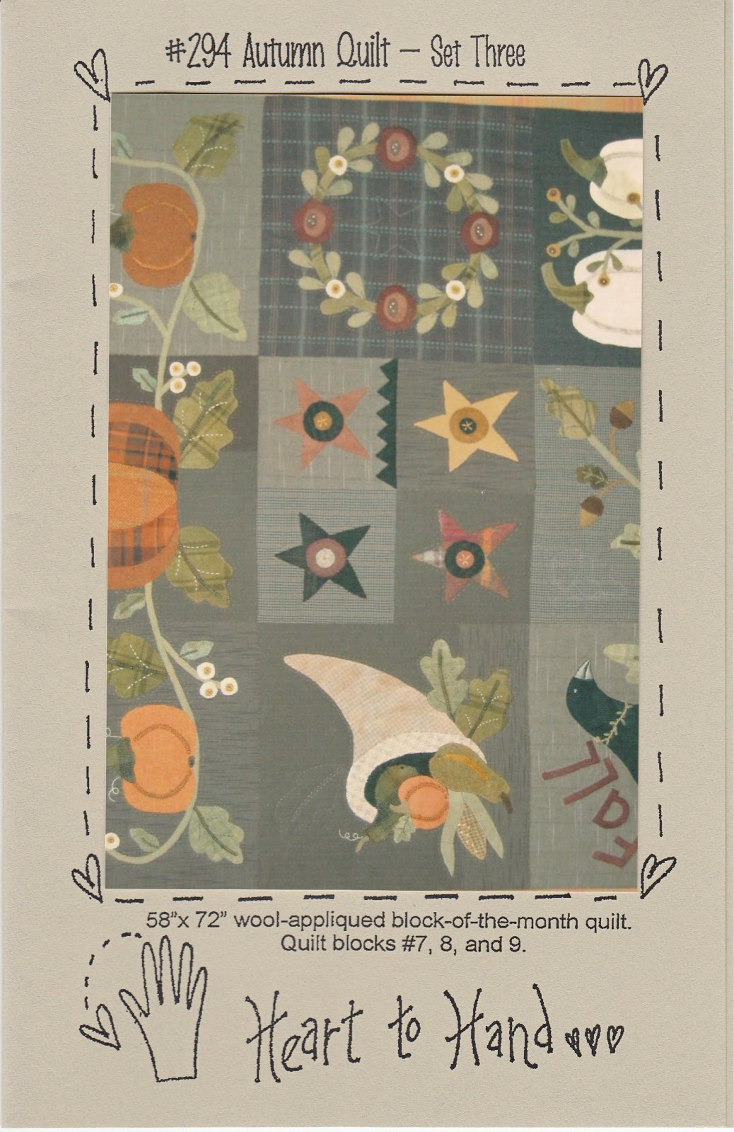 Autumn Quilt Block of the Month Blocks 789
