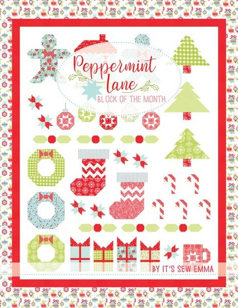 Peppermint Lane Block Of The Month Book