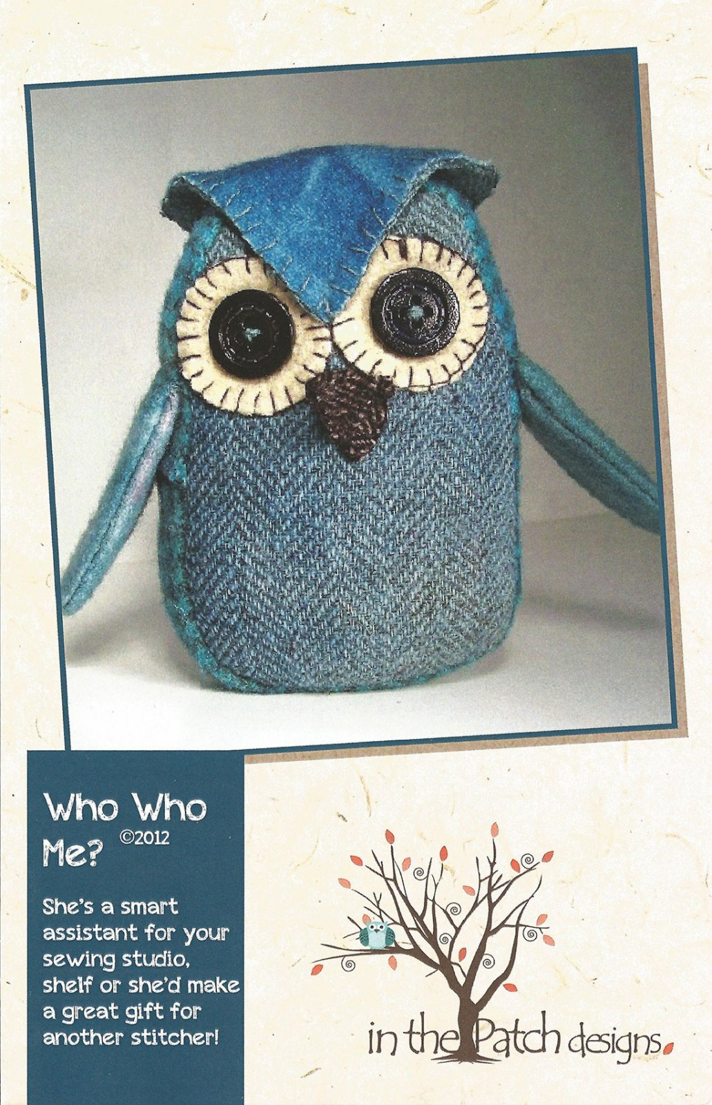 Who Who Me? Pincushion Pattern Previously Item WCP5098