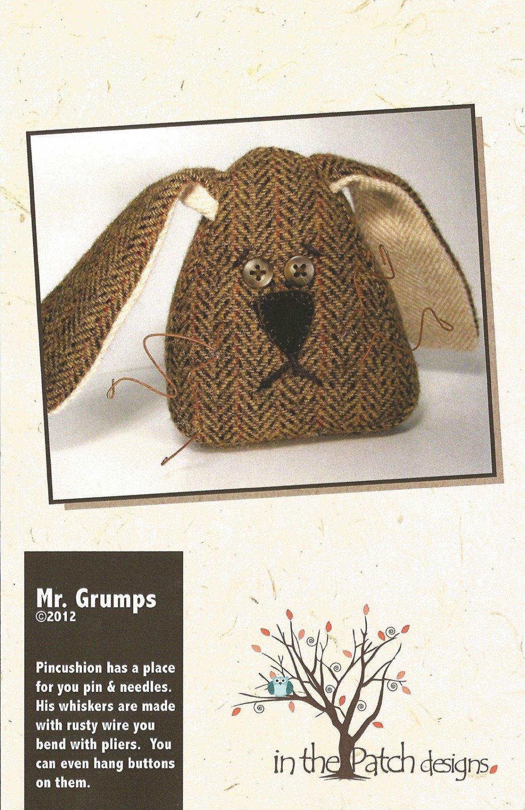 Mr Grumps Pincushion Pattern Previously Item WCP5101
