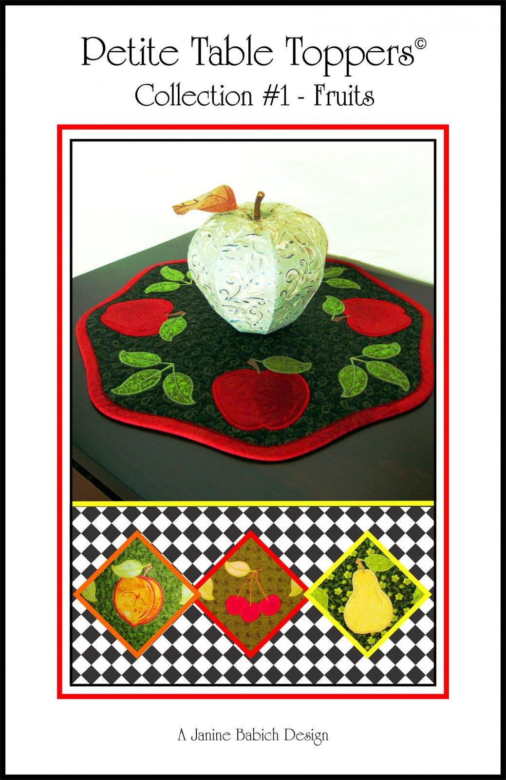 CD Petite Table Toppers Col 1- Fruits Machine Embroidery