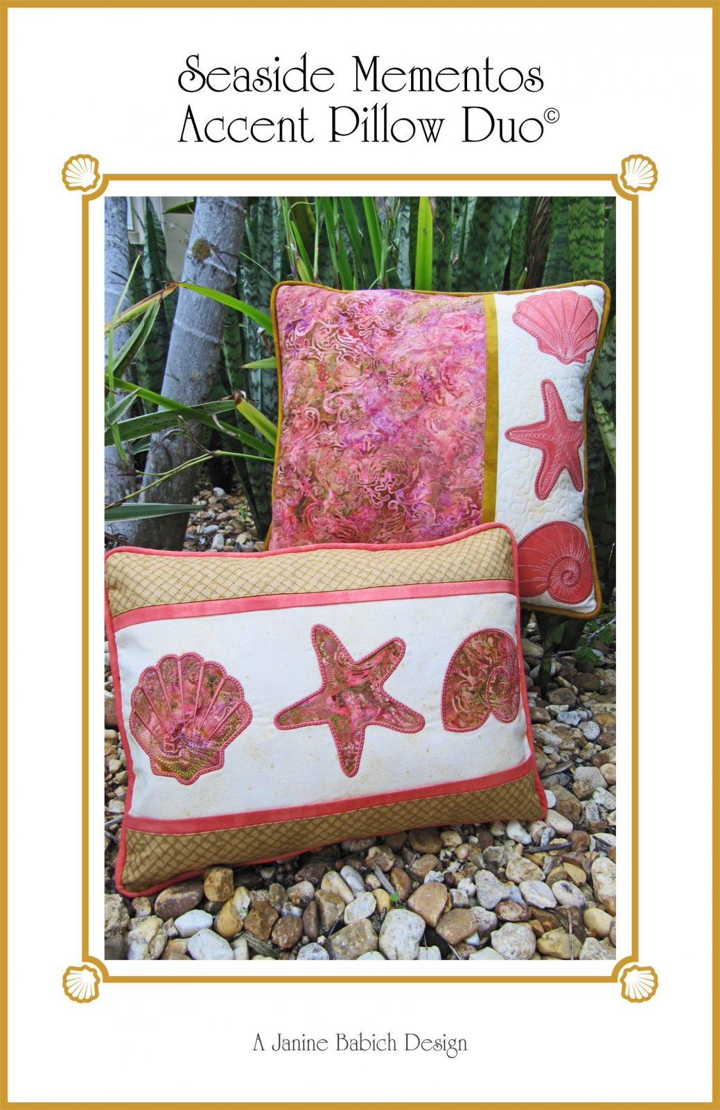 CD Seaside Mementos Accent Pillow Duo Machine Embroidery