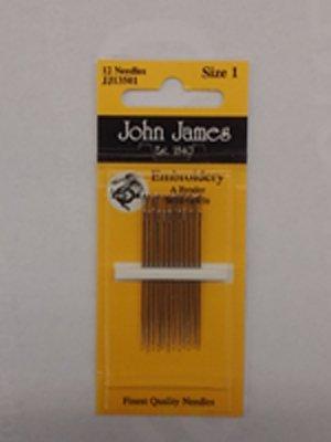 John James Embroidery Needles Size 1