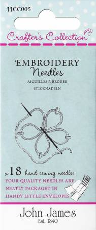 John James Crafters Collection Embroidery Needles - Multi Size