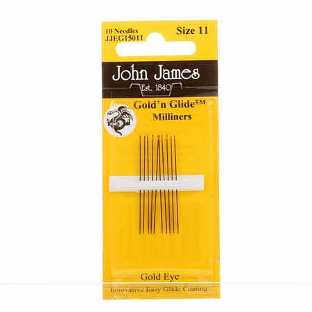 John James Gold'N Glide Milliners / Straw Needles Size 11 10ct