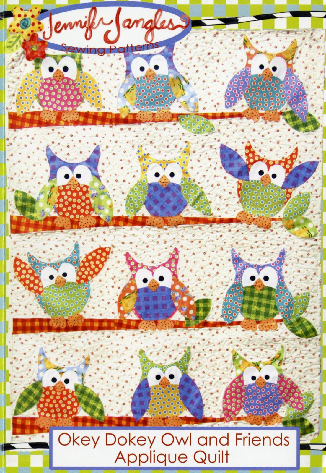 Okey Dokey Owl and Friends Applique Quilt