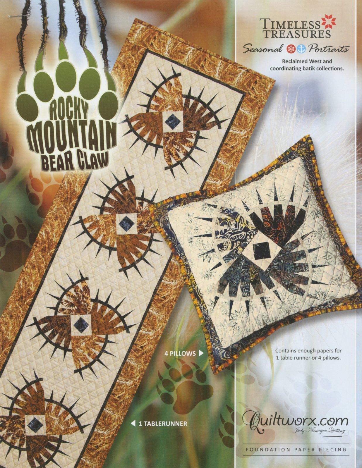 Rocky Mountain Bear Claw Table Runner