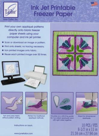 Ink Jet Printable Freezer Paper Sheets 10ct 8 1/2in x 11in