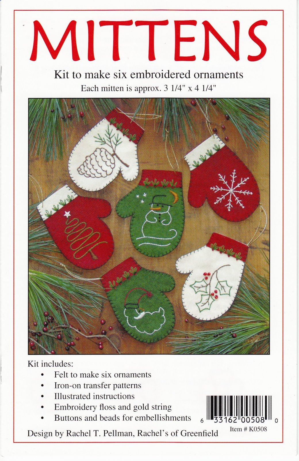 Mittens Ornament Kit