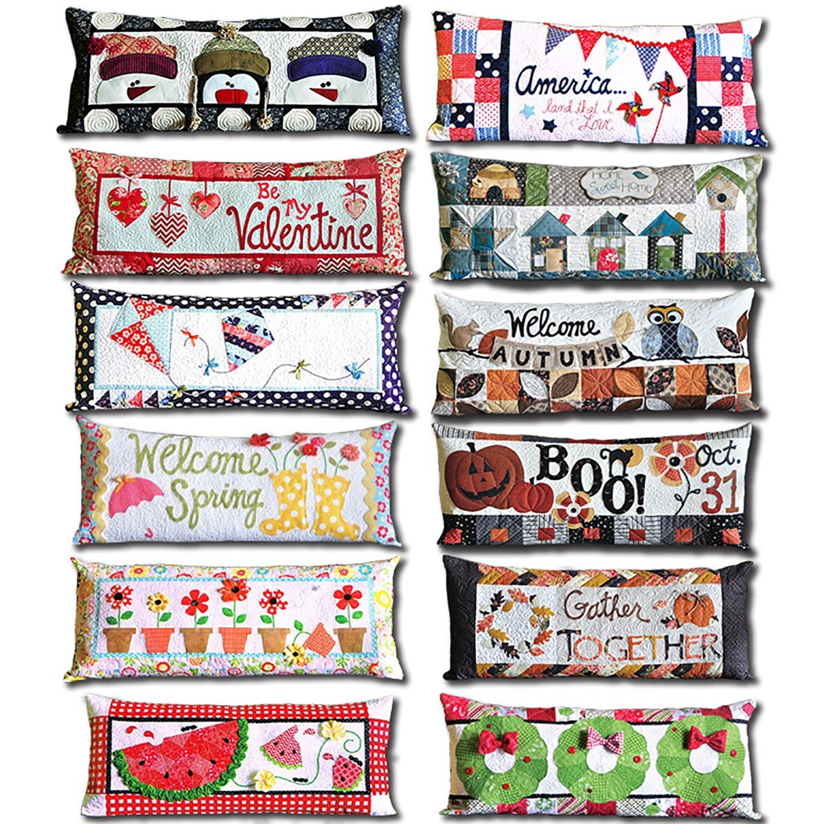 Bench Pillow Full Kit with pattern