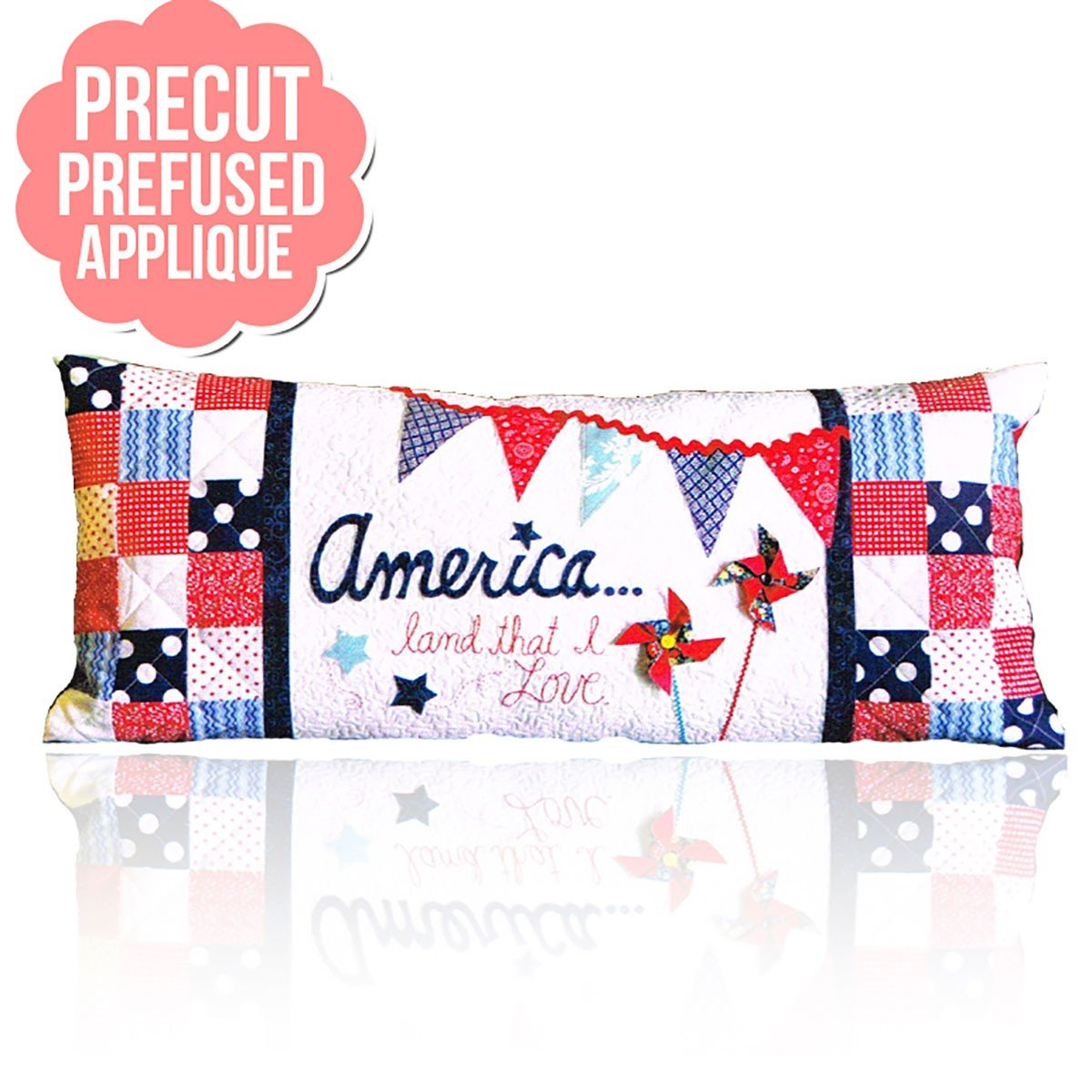 America Land That I Love Bench Pillows - July with pattern