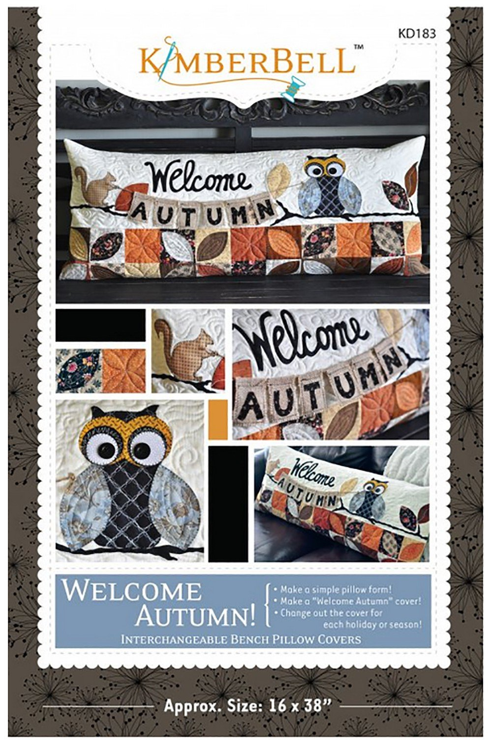 Welcome Autumn Bench Pillow