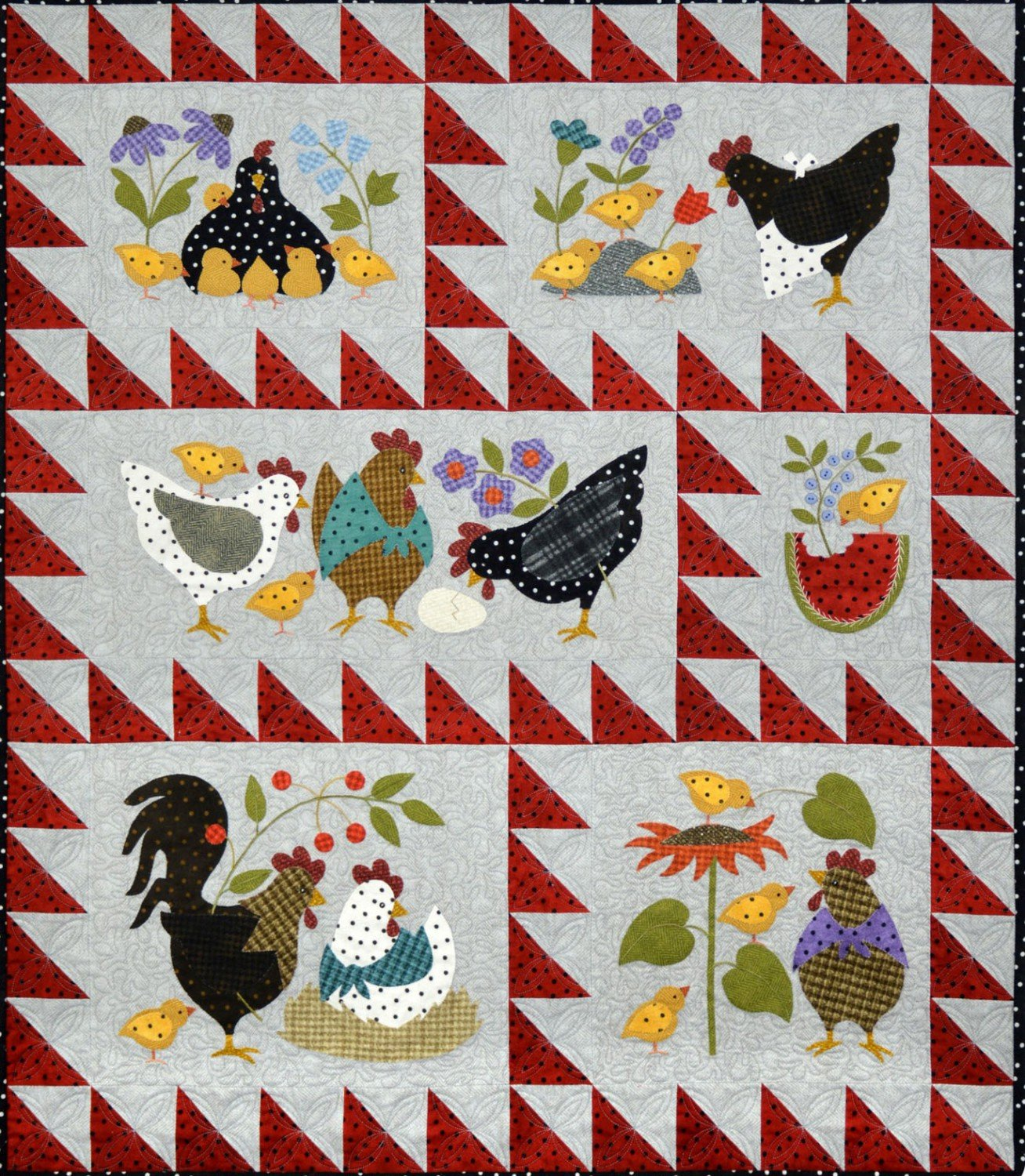 Here A Chick There A Chick Quilt Kit - Light Version