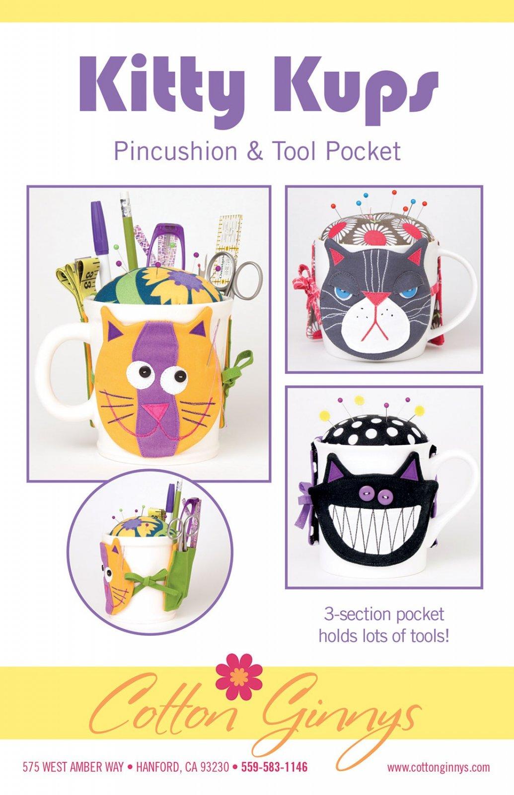 Kitty Kups Pincushion & Tool Pocket