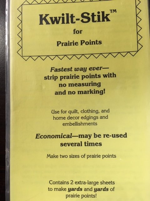 Kwilt-Stik for Prairie Points