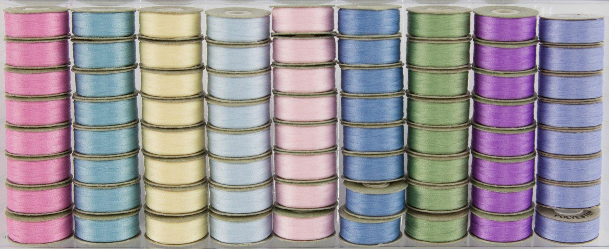 Prewound Bobbins BottomLine Thread L Style Pastels