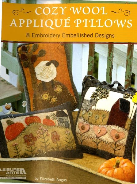 Cozy Wool Applique Pillows - Softcover