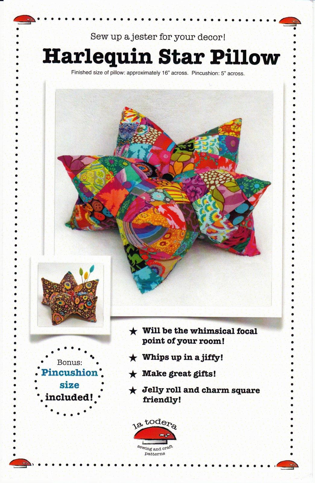 Harlequin Star Pillow & Pincushion