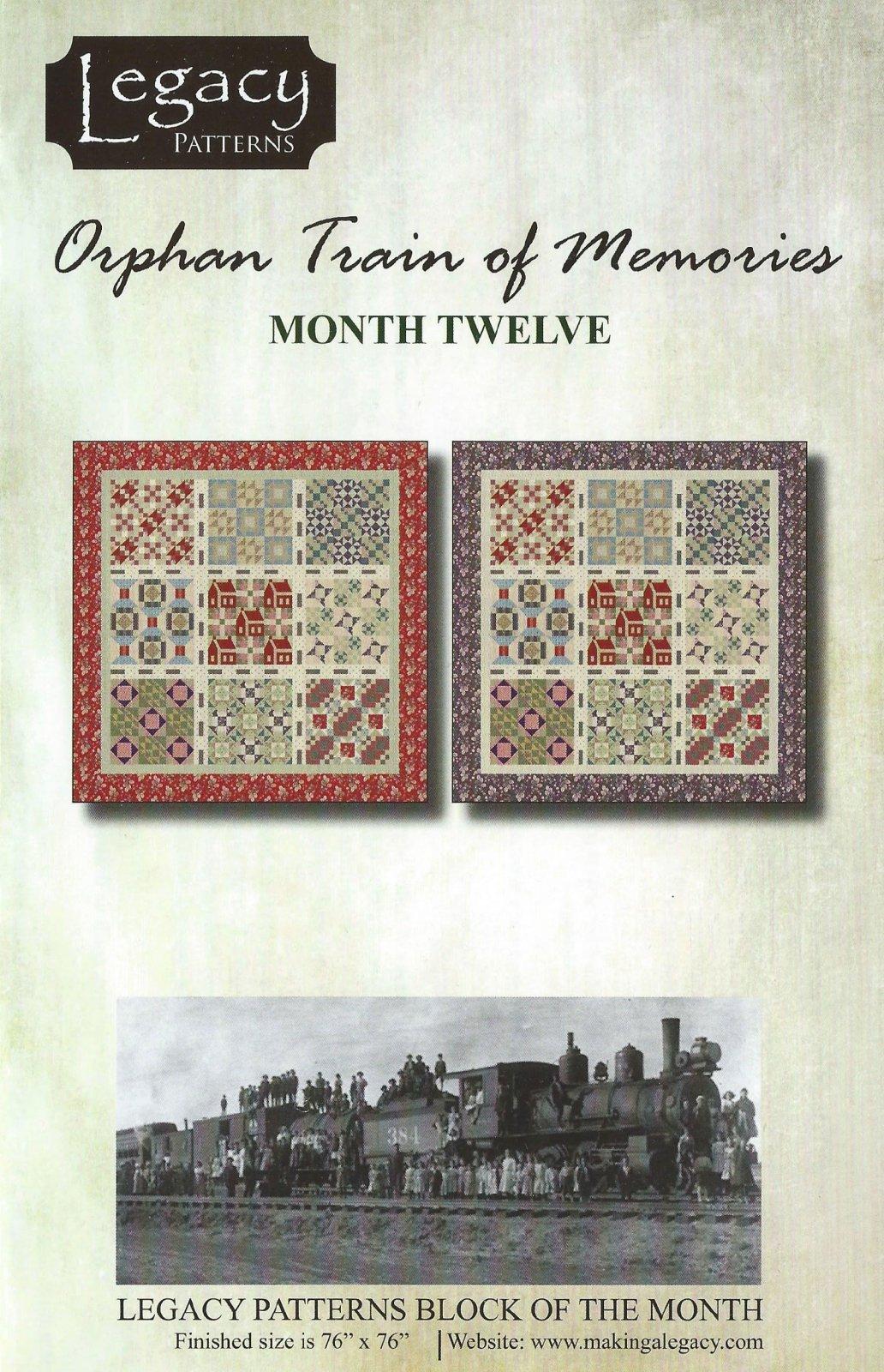 Orphan Train Of Memories-Month Twelve