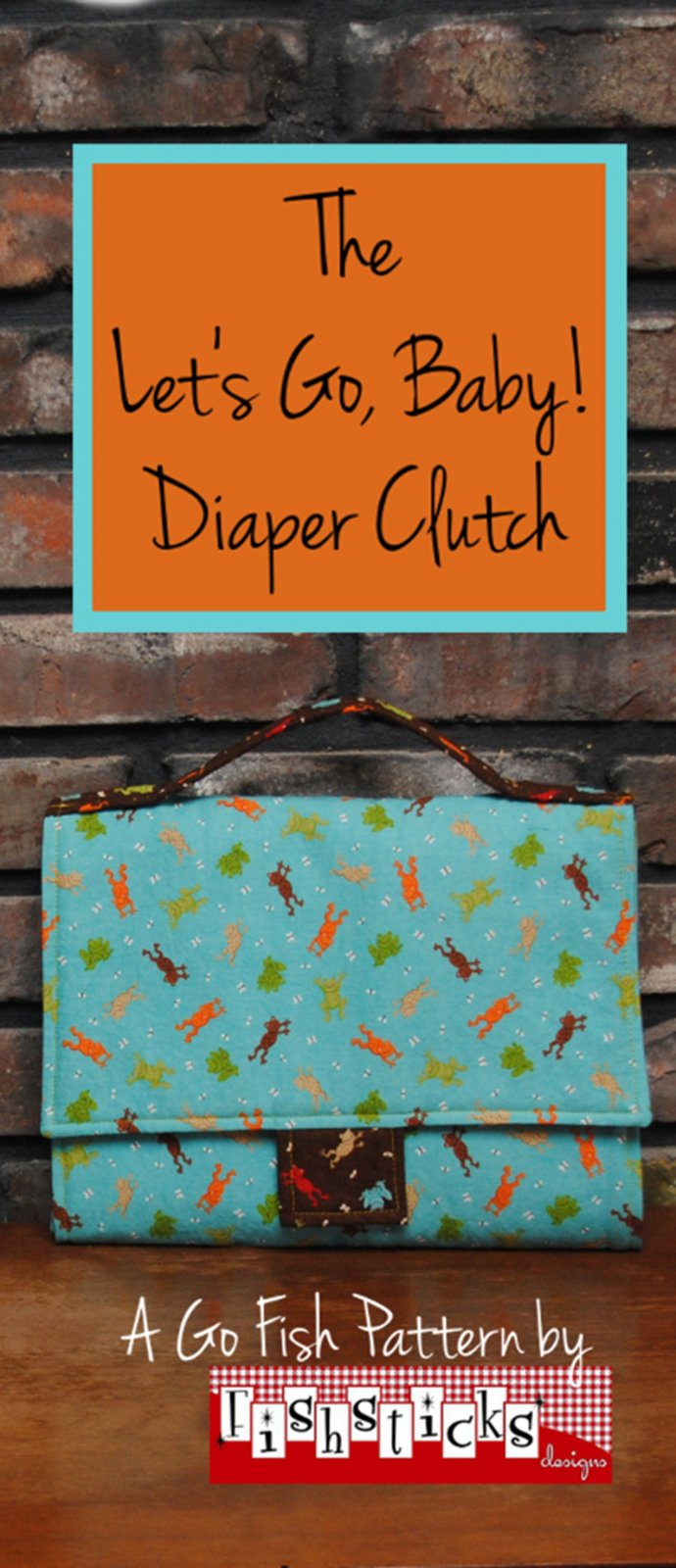 Let's Go Baby! Diaper Clutch