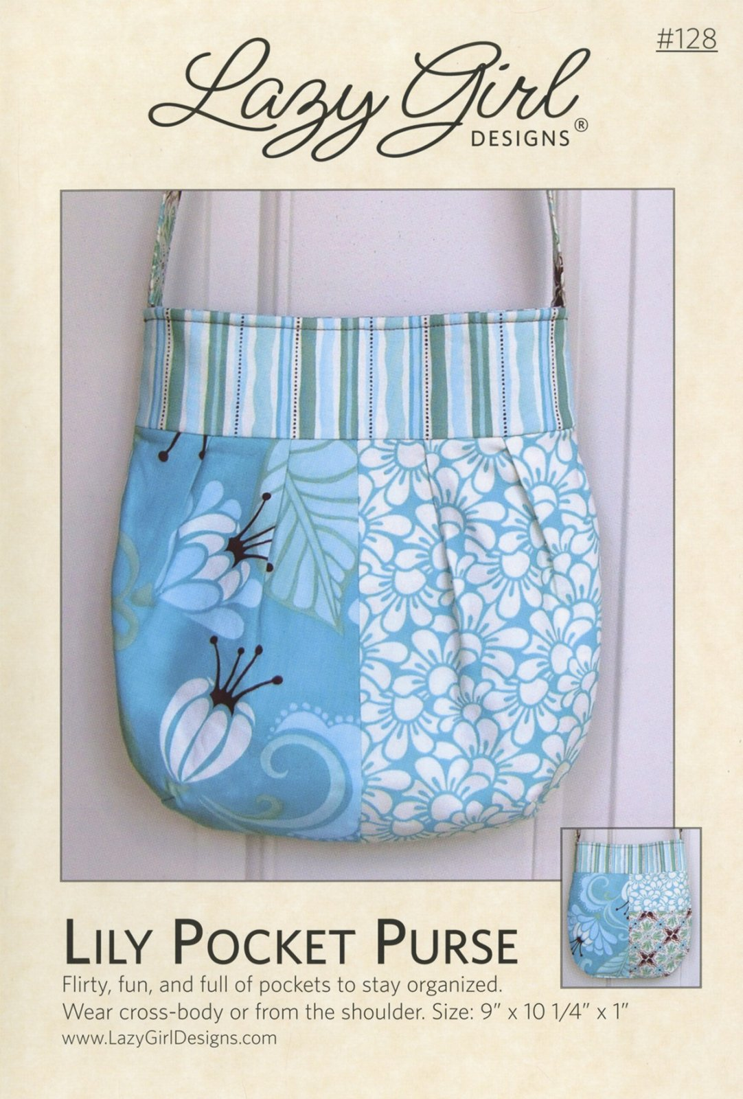 Lily Pocket Purse 9in x 10-1/4in x 1in