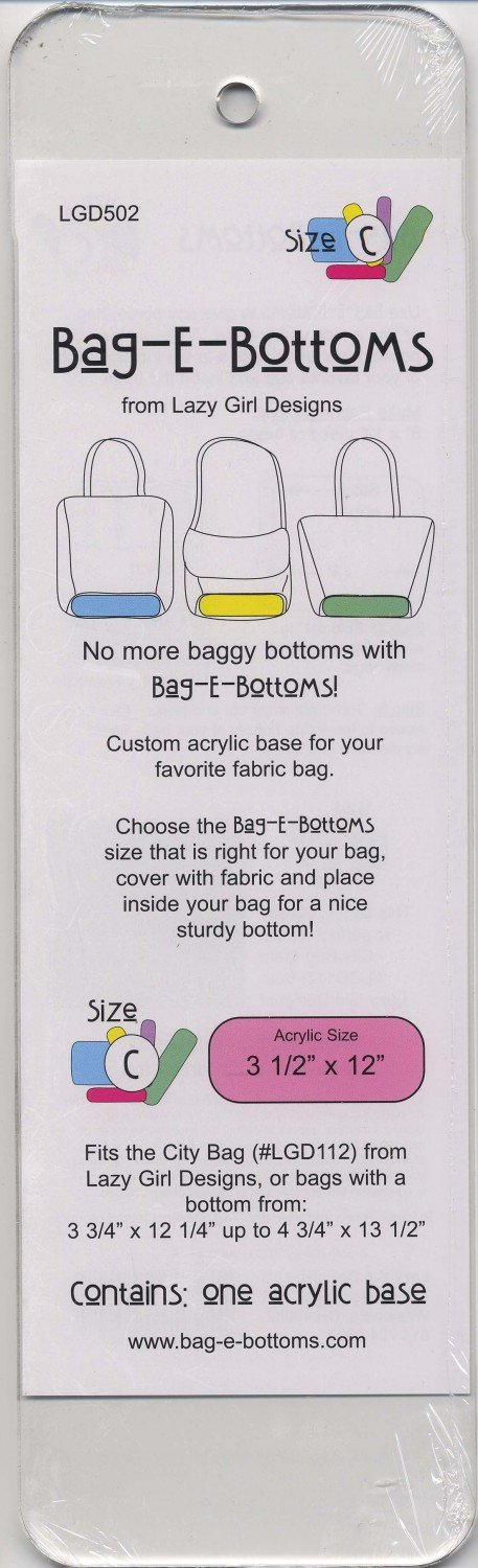 Bag-E-Bottoms Size C 3 1/2in x 12in
