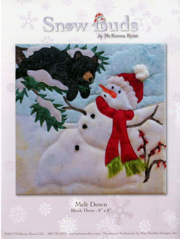 Snow Buds Block 3 Melt Down Laser Cut Fabric Kit