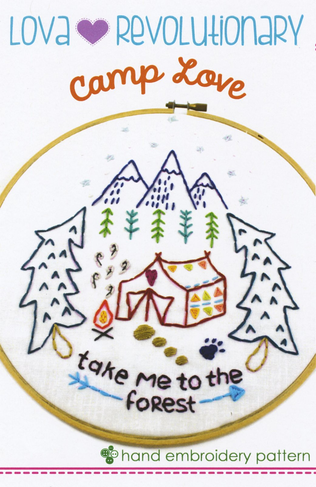 Camping Forest Embroidery
