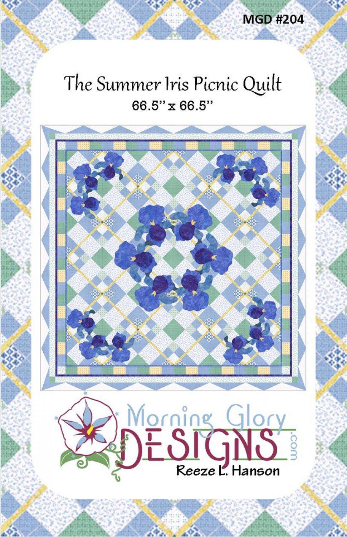 Summer Iris Picnic Quilt