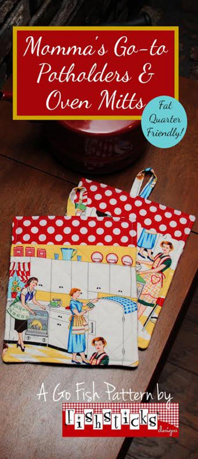 Momma's Go-To Potholders & Oven Mitts