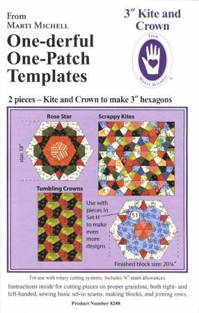 3in Kite and Crown One-derful One Patch Templates
